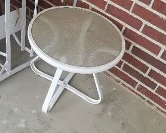 small outside table