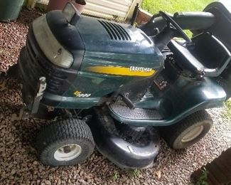 RIDING LAWN MOWER WILL NOT START DEFINITELY NEED BATTERY PLUS IT HAS ATTACHMENTS THAT GO WITH IT