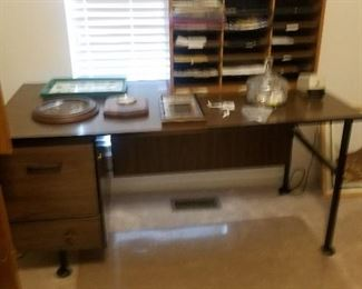 METAL DESK AND MISC