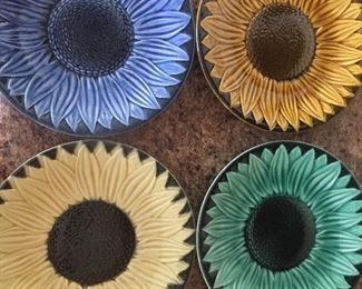 Beautiful sunflower dishes made in France