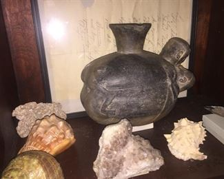 Very early  clay effigy piece  authenticated by Dr. Richard Gonzales, South America
