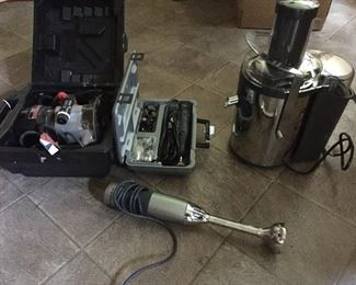 Kitchen gadgets and a drill!