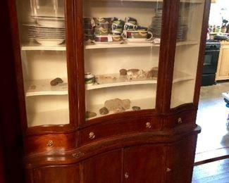 Antique mahogany China/ Display Cabinet