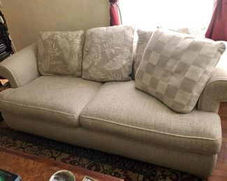 """Quality sofa in """" like new"""" condition  Fits any decor"""