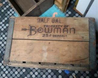 Bowman Dairy  crate