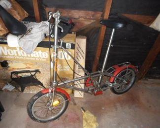 vintage foldup bicycle