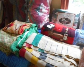 wool blankets , handmade quilt, down comforter