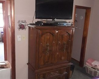 Armoire Chest and  Flat Screen TV