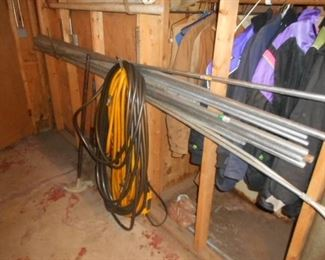 conduit piping,  power cords and air hoses