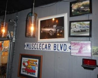 Muscle car Art & Sign