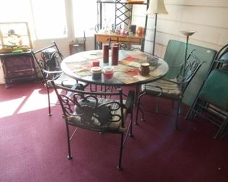 patio table & chairs set, glass top