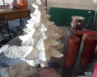 Ceramic Xmas tree Lamp