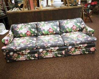"FLORAL COUCH 84"" ( 7 FT."