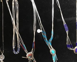Lots of sterling silver jewelry, many are Southwestern/Native American style.