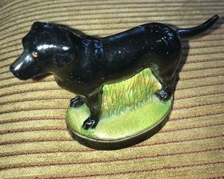 Vintage metal dog figurines bottle opener.