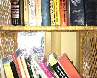 Assorted books.