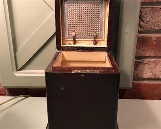 Antique wood humidor.
