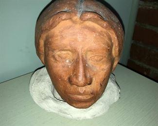 Clay sculpture.