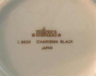 "Vintage Mikasa ""Charisma Black"" China."