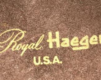 Vintage Aztec Gold lidded dish by Royal Haeger.