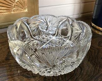 Antique cut glass bowl.
