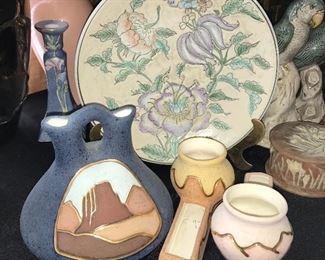 """""""Diamond Original"""" pottery."""