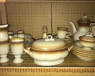"Vintage Mikasa ""Whole Wheat"" dinnerware."