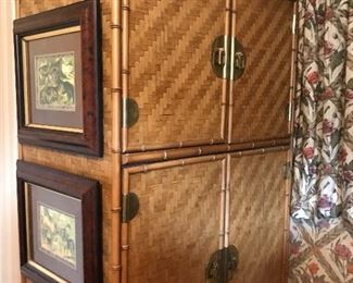Bamboo armoire by Dixie Furniture.