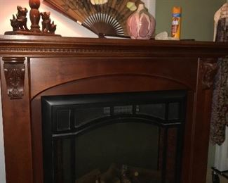 Large electric fireplace heater.