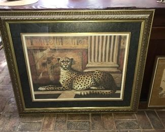 One of many framed prints.