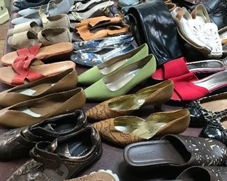 Lots of shoes and other accessories.