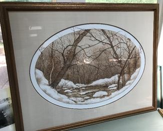 Large Artist Proof print by Paul Lancaster.