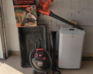 Portable ac, shop vac, leaf blower/bagger