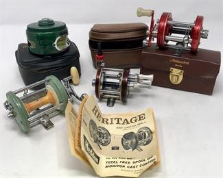 014 Ambassador 6000, Shakespeare & Heddon Vintage Fishing Reels          https://ctbids.com/#!/description/share/190169