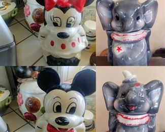 MICKEY AND MINNIE MOUSE TURNABOUT COOKIE JAR DUMBO TURNABOUT COOKIE JAR