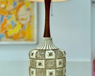 Midcentury chalkware lamp
