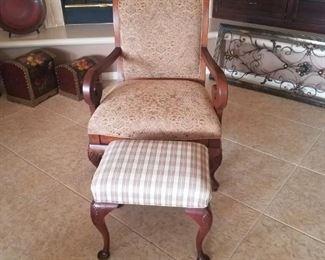 Chair & Ottoman - $50