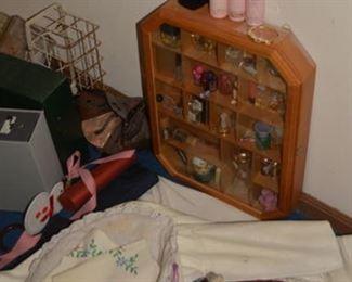 Vintage Perfume Bottles, Linens