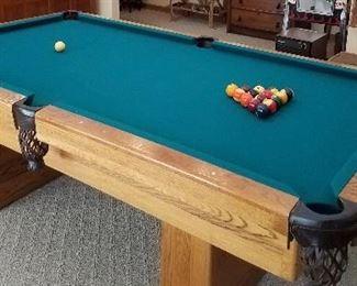 Pool table has secret storage in each leg!