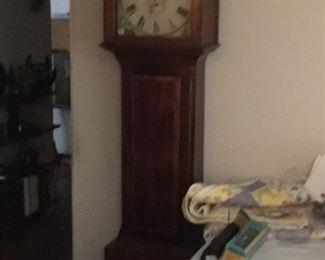 Beautiful wood case on clock