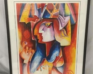 Lot 113 - Prince of Meudon by Alexandra Nechita. 2008. Lithograph. Signed and Numbered 220/229. Includes COA