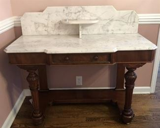 Beautiful Antique Marble Top Server