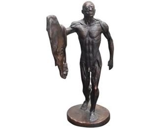 4. Cast Bronze LHomme corch Figure