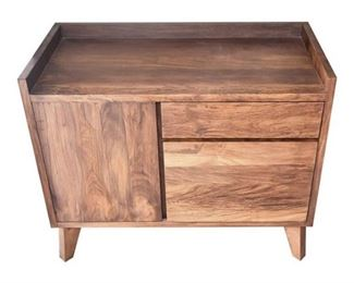 1. Contemporary Walnut Side Cabinet