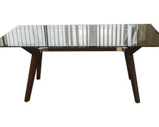 2. Contemporary Glass Top Dining Table