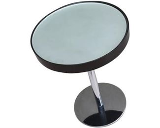 10. Mirror Top Chrome Side Table