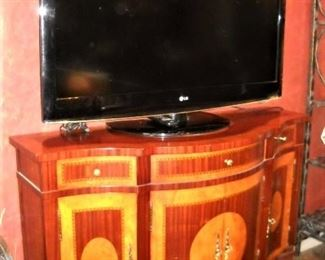 "INLAID SERVER WITH 45"" FLAT SCREEN TV"