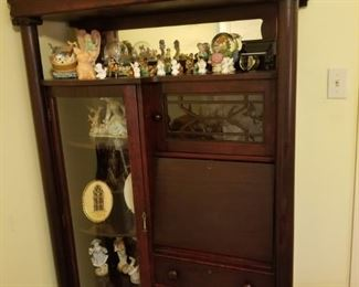 Large drop front secretary with display cabinet is discounted by 30% today!