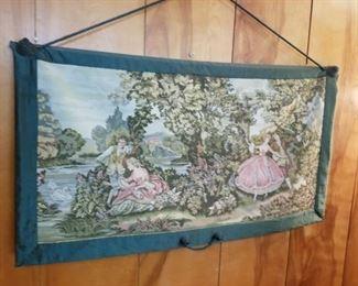 Large Romantic Scene Tapestry