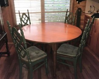 cute small space kitchen or dining room table and chairs